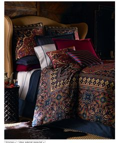 "Ralph Lauren Bedding - I have this, now I need draperies and a 21"" bed skirt for a double (antique) bed to coordinate."