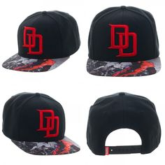 08ebb135a9bcf Marvel Daredevil Defenders Black Adult Custom Snapback Hat Cap  Bioworld   BaseballCap  Marvel