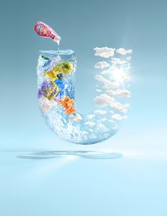 Unilever, innovative design - keeping the brand indentity and yet adding an interesting advertisement.