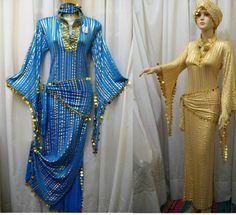 Plus Size GALABEYA, danza del vientre, BALADI ABAYA SAIDI,, Sexy Vestido y 2 Bufanda-Longitud 140CM