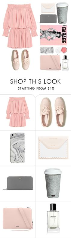 """""""bookworm in pink"""" by jjannata ❤ liked on Polyvore featuring Norma Kamali, Hollister Co., Recover, Sugar Paper, Prada, Fitz & Floyd, Rebecca Minkoff and Bobbi Brown Cosmetics"""
