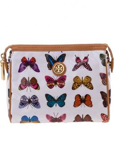 Shop tory burch cindie cosmetics case butterfly print from Handbags in our fashion directory.