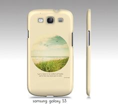 """Samsung galaxy S3,S4 case, iphone 4, 4s, 5 case, ipad hard case -""""I go to nature"""" beach ocean photograph, typography, quote"""