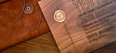 Wax Stickers on the invite with seal of event