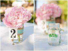 Historic Hearn House Wedding with DIY mason jar centerpieces