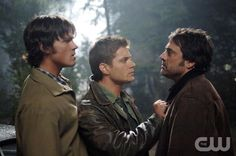 Jared Padalecki as Sam Winchester, Jensen Ackles as Dean Winchester, Jeffrey Dean Morgan as John Winchester