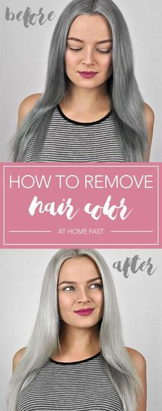 How to Remove Hair Color at Home Fast No costlier salon visits! Comply with this straightforward DIY methodology to take away hair coloration at house. Now you'll be able to strip hair dye. Faded Hair Color, At Home Hair Color, Ombre Hair Color, New Hair Colors, Hair Color Balayage, Cool Hair Color, Gray Ombre, Silver Ombre, Natural Hair Color Dye