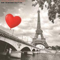 Papierservietten Paris City of Love