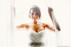 Bride Danielle is picture perfect in Romona Keveza gown RK831V and Romona Keveza crystal belt!