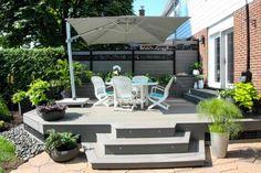 planche+composite+gris+ezdeck Deck With Pergola, Pergola Ideas, Outdoor Furniture Sets, Outdoor Decor, New Homes, Home And Garden, Klein, Home Decor, Gardens