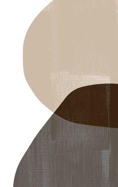 Neutral Mid Century Modern Prints Set, Dark Gray Geometric Art Set, Light Brown Art Prints, Black Abstract Shapes Print Set, Beige Wall Art… in 2019 Inspirational Canvas Art, Canvas Art Quotes, Abstract Shapes, Geometric Art, Art Marron, Aesthetic Drawing, Aesthetic Painting, Aesthetic Dark, Motif Art Deco