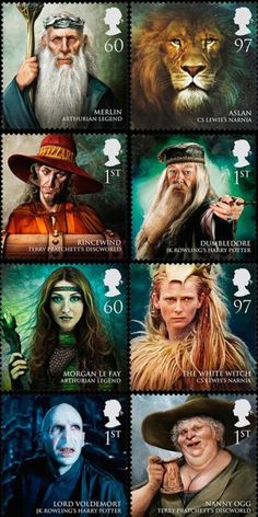 Discworld! Lord of the Rings! Harry Potter! Discworld! Fantasy Stamps