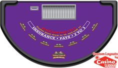 Custom Blackjack Layout Designs - Topaz Lodge  by Casinosupply.com