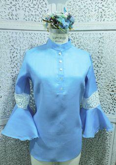 Blusa gitana azul  #GriseldaTovar #Moda #Mujeres #LeTempsDesFleurs #TiempoDeFlores