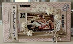 min lille scrappe-verden: Bursdagskort til jente Kids Cards, I Card, Shabby, Frame, Projects, Scrapbooking, Inspiration, Albums, Design