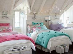 Find cute and cool girls bedroom ideas at Pottery Barn Teen. Shop your dream room with our teen room inspiration and ideas. Teen Furniture, Girls Bedroom Furniture, Kids Bedroom, Bedroom Decor, Bedroom Ideas, Triplets Bedroom, Kids Rooms, Furniture Design, Furniture Direct
