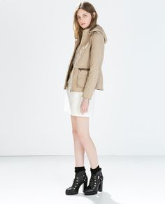 Image 1 of QUILTED JACKET WITH HOOD from Zara