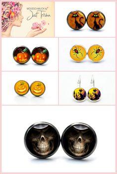 Du suchst noch den passenden Schmuck für Halloween?? Dann schau bei www.justtrisha.com vorbei. Bei uns findest du passenden Schmuck für Halloween! Etsy, Scary Halloween, Jewelry Shop, Bangle Bracelet, Stud Earring, Silver