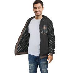 Viking Warrior Zip Hoodie – This is iT Original Viking Warrior, Zip Hoodie, Vikings, Your Style, Bomber Jacket, Dots, Zipper, Hoodies, Jackets