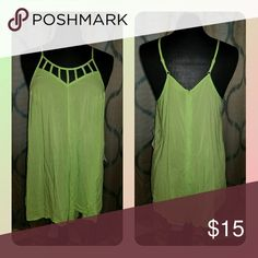 New Neon Green Romper New romper, never worn. Zips in the back, so very easy to get on and off. 100% rayon. Pants Jumpsuits & Rompers