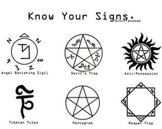 Know your basic Supernatural signs!