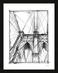 Trends Graphic Architectural Study III Framed Painting Print
