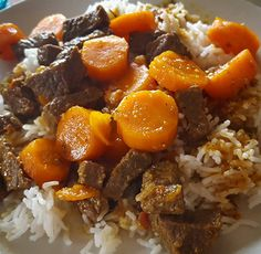Carrot Beef with Cookeo photo boeuf carotte cooke+ My Best Recipe, Recipe For Mom, A Food, Good Food, Food And Drink, Shrimp Recipes, Beef Recipes, Healthy Cooking, Healthy Dinner Recipes