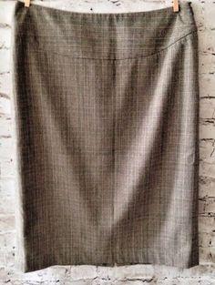 Rafaella Pencil Skirt Size 10 Career Straight Gray Plaid Knee Length Lined EUC #Rafaella #StraightPencil #Career