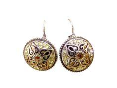 Golden stud earrings