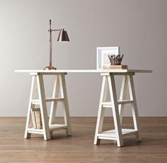 Sawhorse Trestle Desk | Desks & Vanities | Restoration Hardware Baby & Child