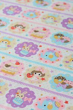 Japanese Fabric Kokka Sheeting Cotton - Girl Sweets - Half Yard on Etsy, $8.50