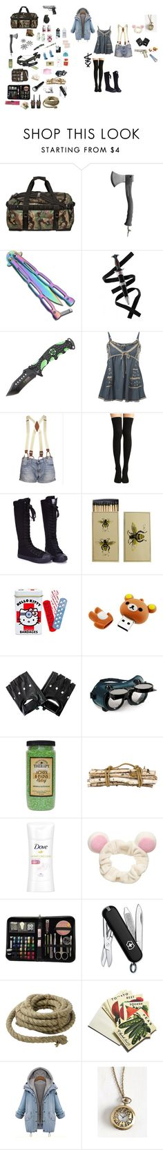 """""""""""Psst.. Cain.. lower the ladder.."""" Starfighter Apocalypse AU"""" by shinakisenpai ❤ liked on Polyvore featuring The North Face, Holster, Miss Selfridge, Joe's Jeans, Hydrogen, Hello Kitty, Jayson Home, Dove, Victorinox Swiss Army and HomArt"""