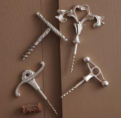 vintage corkscrews. great gift for the wine lover.