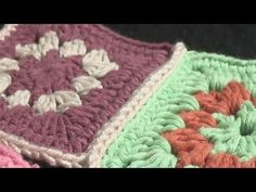 How To Attach Pieces Of Crochet Together. - YouTube
