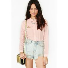 Ice Breaker Blouse - Blush ($29) ❤ liked on Polyvore