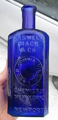 Blue Glass Bottles, Cobalt Glass, Blue Bottle, Antique Bottles, Bottles And Jars, Perfume Bottles, Old Medicine Bottles, Types Of Glassware, Bleu Cobalt
