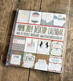 2014 Desktop Calendar by Made by Michelle Brusegaard on Scoutmob Shoppe. An ingenious little calendar with original illustrations.
