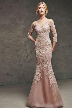 pudra rengi dantelli mezuniyet elbise modelleri 2015