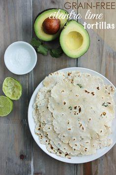 Grain-Free Cilantro Lime Tortillas made with @ottosnaturals Cassava Flour | Beautifully Paleo