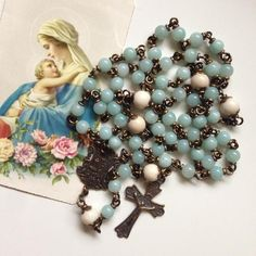 Marian Graces - Catholic Rosaries and Chaplets Rosary Prayer, Praying The Rosary, Rosary Catholic, Catholic Gifts, Religious Gifts, Catholic Store, Prayer Beads, Rosaries For Sale, Pictures Of Mary