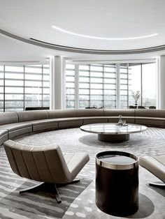 DOTHINK • AIRPORT CITY SALES CENTER | GFD Interior Designs White Reception Desk, Mirror Ceiling, Aesthetic Space, Sales Center, French Windows, Cabinet Design, Design Firms, Design Awards, My Dream Home