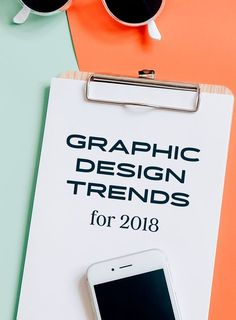 10 Graphic Design Trends for 2018 {affiliate ad} Graphisches Design, Logo Design, Design Typography, Graphic Design Trends, Design Poster, Graphic Design Tutorials, Media Design, Branding Design, Design Ideas