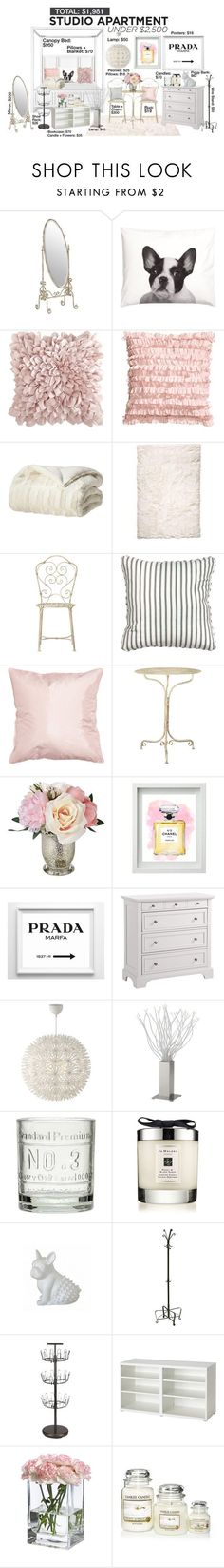 """""""Studio Apartment Under $2,500 - #4"""" by theleatherlook ❤ liked on Polyvore featuring interior, interiors, interior design, home, home decor, interior decorating, H&M, Pier 1 Imports, Home Decorators Collection and Chanel"""
