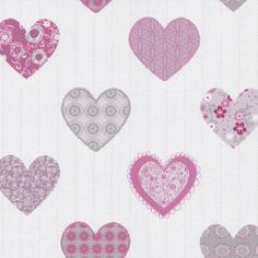 10 meter lang 53 cm breed ;  rose hartjes behang