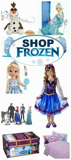 Having trouble finding Frozen merchandise in stores?  Shop online with this easy guide.  There is so much more available, and you don't even have to leave the house to shop!