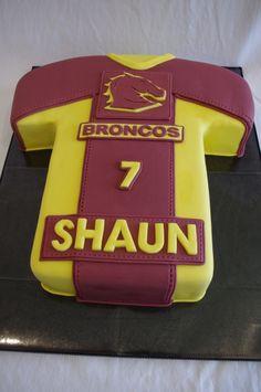 Brisbane Broncos Jersey Cake