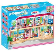 BNIB 5265 LARGE LUXURY SUMMER FUN FURNISHED GRAND HOTEL BOXED WITH FIGURES GIFT!