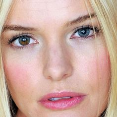 A certain defects are considered beautiful. One of them would be the Heterochromia Iridum - Kate Bosworth's different eye colors. Most Beautiful Faces, Beautiful Girl Image, Beautiful Eyes, Amazing Eyes, Beautiful People, Beautiful Ladies, Pretty Eyes, Cool Eyes, Kate Bosworth Eyes