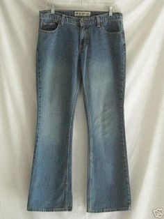 American Eagle Low Rise Boot Cut Blue Jeans 6 Reg 6/31 33 x 31 #AmericanEagleOutfitters #BootCut