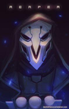 Reaper - Overwatch, Danilo Franco on ArtStation at https://www.artstation.com/artwork/9kDmo